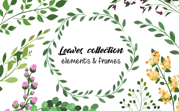 collection of leaves and floral wreaths