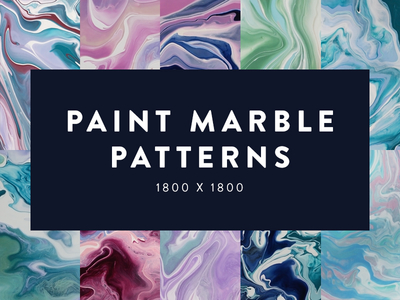 10 different paint marble patterns are compiled in this image