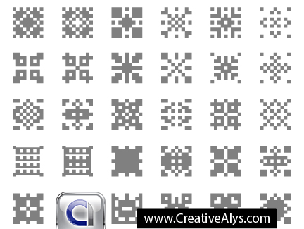 29 pixelated patterns 4vector download