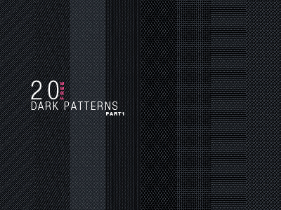 Image of 20 dark vector patterns