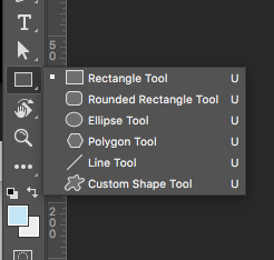 where to find rectangle tool in Photoshop