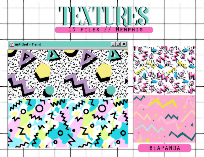 15 creative memphis textures free download