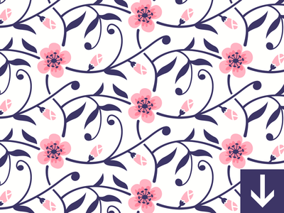 Image of flower blossom seamless pattern