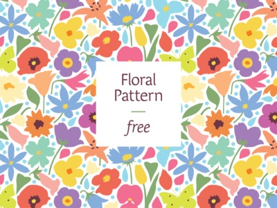 Image of free colourful floral vector pattern