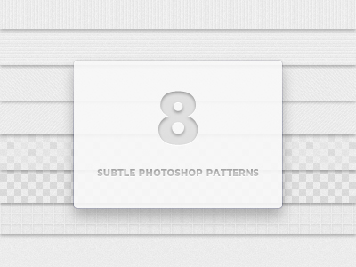 Image of 8 subtle photoshop patterns