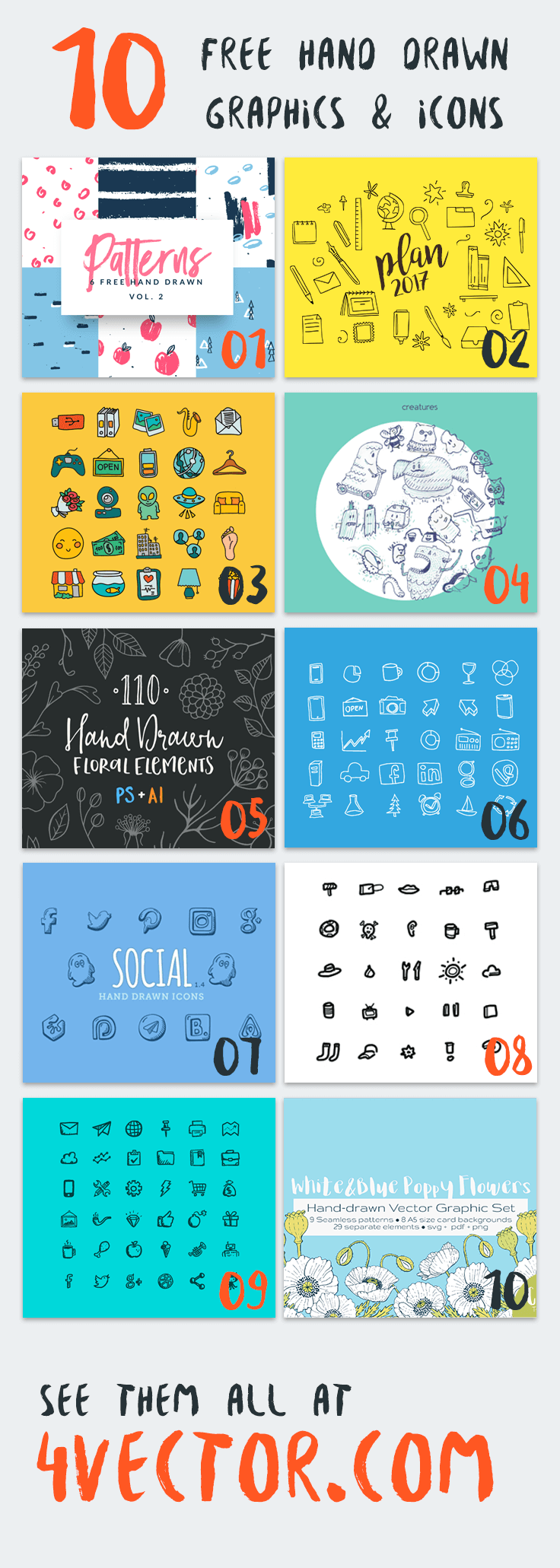10 Attention-Grabbing Vector Graphics & Icons to Download for Free Right Now!