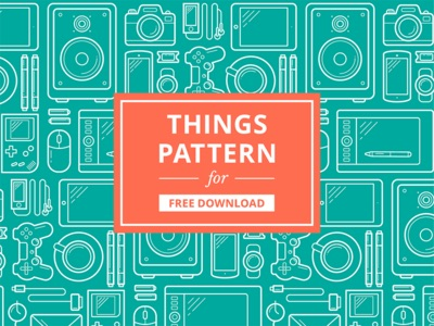 Vector pattern of things you can find in a workplace