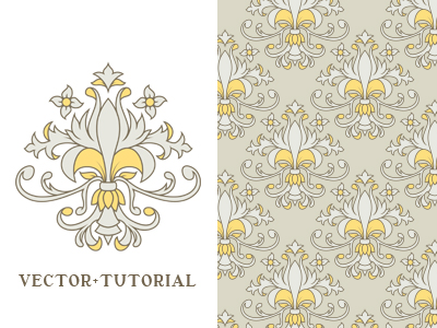 Image of decorative vintage seamless vector and tutorial