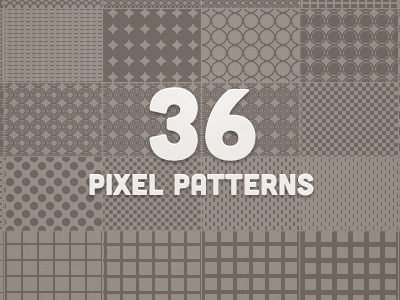 Image of 36 free vector pixel patterns