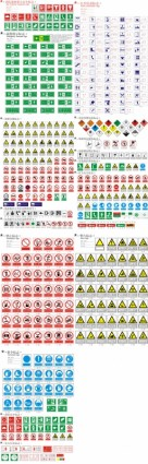 free vector Safety warning prohibition signs vector
