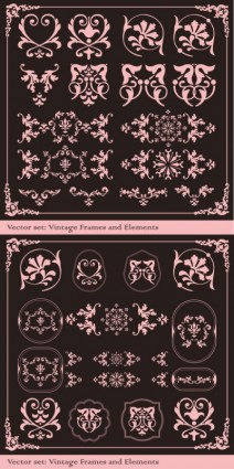 free vector The exquisite lace angular decorative vector