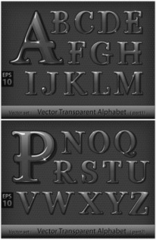 free vector Metallic letters vector