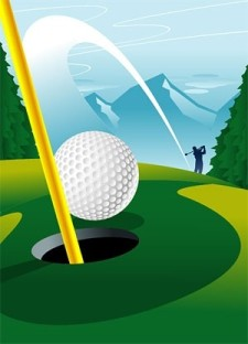 free vector Hole golf course a vector