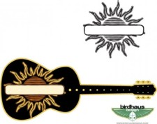 free vector Sun Graphic and Guitar
