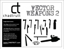 free vector Various Weapons