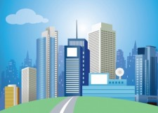 free vector Modern City Vector Art