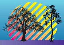 free vector Trees Vector Illustration
