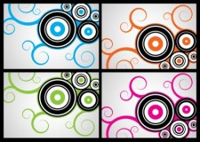 free vector Circles Swirls