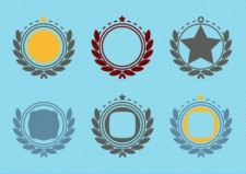 free vector Retro Emblem Badge Decorations
