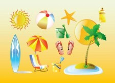 free vector Summer Vacation Graphics