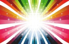 free vector Colorful Rays Vector