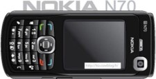 free vector Nokia N70 Black cell phone vector
