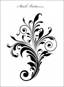 free vector Engraved flower