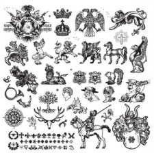 free vector The european classical totem pattern vector