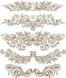 free vector Draft fine line pattern vector