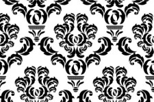 free vector Vector damask repeat pattern