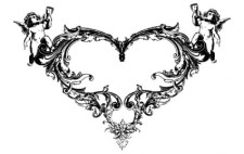 free vector FANTASY HEART ANGEL ORNATE FREE VECTOR