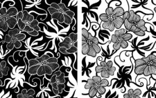 free vector European Art Deco Floral Vectors