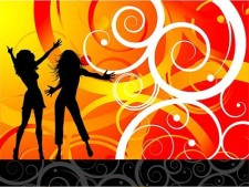 free vector The trend of female characters silhouette vector party