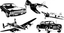 free vector Cars and airplane vector