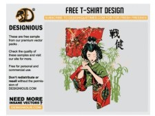 free vector Japanese t-shirt