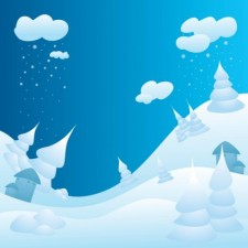free vector Snowy Winter Landscape