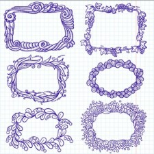 free vector Handpainted cartoon lace 01 vector