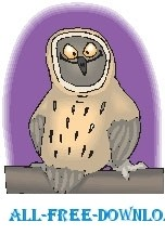 free vector Owl Happy