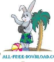 free vector Rabbit on Vacation