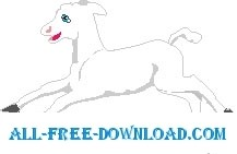 free vector Lamb Running