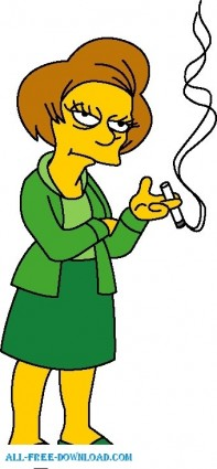 free vector Mrs Edna Krabappel 01 The Simpsons