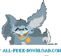 free vector Rabbit Laughing