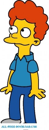 free vector Rod Flanders 01 The Simpsons