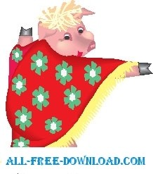 free vector Pig Wearing Cape