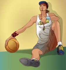 free vector Basketball sport vector 5
