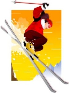 free vector Snow boarding vector 7