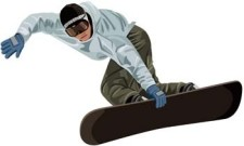 free vector Snow boarding vector 4