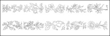 free vector Flower type of line drawing vector diagram-2