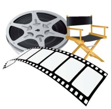 free vector Movie equipments vector