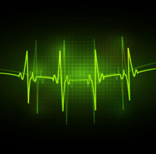 free vector ECG abstract vector background